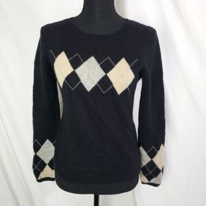 Juicy Couture 100% Cashmere Checkered Sweater